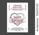 birthday invitation | Shutterstock .eps vector #550492105