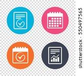 report document  calendar icons.... | Shutterstock . vector #550497565