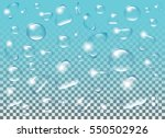 clear transparent water drops... | Shutterstock .eps vector #550502926