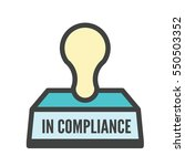 in compliance   graphic that... | Shutterstock .eps vector #550503352