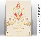 indian wedding invitation card... | Shutterstock .eps vector #550513126
