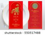 wedding menu card templates... | Shutterstock .eps vector #550517488