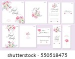 template cards set with... | Shutterstock . vector #550518475