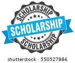 scholarship. stamp. sticker.... | Shutterstock .eps vector #550527886