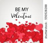 luxury elegant happy valentine... | Shutterstock .eps vector #550528288