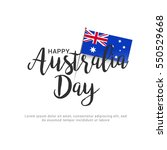 australia day flag background. | Shutterstock .eps vector #550529668
