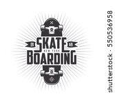 skateboarding t shirt design.... | Shutterstock .eps vector #550536958