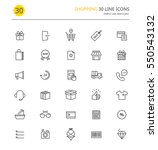 shopping line icons | Shutterstock .eps vector #550543132
