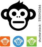 chimp icon | Shutterstock .eps vector #550543366
