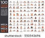 mega set and big group  real... | Shutterstock .eps vector #550543696