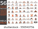 mega set and big group  real... | Shutterstock .eps vector #550543756