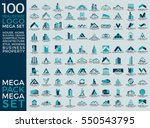 mega set and big group  real... | Shutterstock .eps vector #550543795
