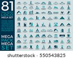 mega set and big group  real... | Shutterstock .eps vector #550543825