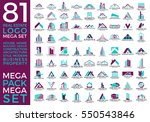 mega set and big group  real... | Shutterstock .eps vector #550543846