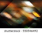 retro pattern of geometric... | Shutterstock . vector #550546492