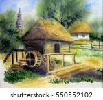 art oil painting on canvas  ... | Shutterstock . vector #550552102