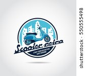 scooter retro logo template.... | Shutterstock .eps vector #550555498