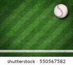 3d render of baseball on the... | Shutterstock . vector #550567582