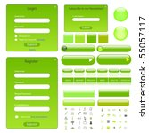Green Web Template With Forms ...