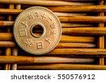 5 yen coins japanese money ... | Shutterstock . vector #550576912