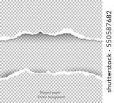 realistic vector torn paper... | Shutterstock .eps vector #550587682