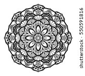 decorative mandala isolated on... | Shutterstock .eps vector #550591816