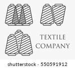 spools with thread logo set | Shutterstock .eps vector #550591912