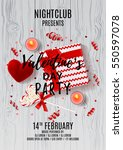 flyer for happy valentine's day ... | Shutterstock .eps vector #550597078