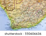geographic map of south africa... | Shutterstock . vector #550606636