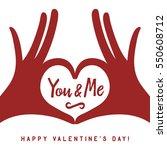 valentine day lettering... | Shutterstock .eps vector #550608712