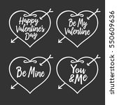 valentine day typography badges ... | Shutterstock .eps vector #550609636