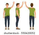 vector illustration of three... | Shutterstock .eps vector #550620052