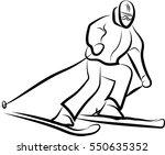 mountain skier | Shutterstock .eps vector #550635352