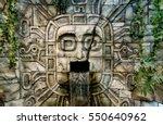 Maya Aztec Style Stone Statue...