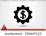 gear dollar icon.   Shutterstock .eps vector #550647115