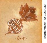 poster beet cutting scheme... | Shutterstock . vector #550650232