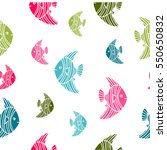 hand drawn vector pattern with... | Shutterstock .eps vector #550650832