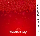 happy valentine's day lettering ... | Shutterstock .eps vector #550650976