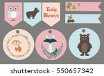 collection of stickers with... | Shutterstock .eps vector #550657342