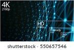 4k television resolution... | Shutterstock . vector #550657546