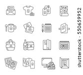 printed and polygraphy products.... | Shutterstock .eps vector #550659952