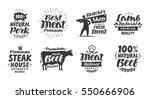 butcher shop  labels. meat ... | Shutterstock .eps vector #550666906