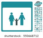 family calendar page pictograph ... | Shutterstock .eps vector #550668712