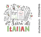 hand drawn doodle of italian...   Shutterstock .eps vector #550669846
