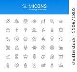 minimalistic slim line energy   ... | Shutterstock .eps vector #550671802