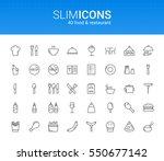 minimalistic slim line food  ... | Shutterstock .eps vector #550677142