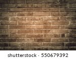 old red brick wall with cracks... | Shutterstock . vector #550679392