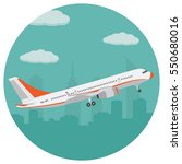 airplane on the background of... | Shutterstock .eps vector #550680016