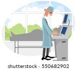 vector illustration of a doctor ... | Shutterstock .eps vector #550682902