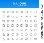 minimalistic slim line laundry... | Shutterstock .eps vector #550687762